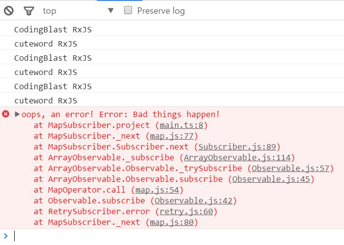 RxJS - Part 5 - RxJS error handling - CodingBlast